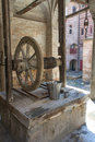 Old well in chilandarou monastery at agion oros Royalty Free Stock Photography