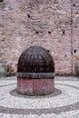 Old well inside Marostica's medieval castle in the province of Vicenza in the Veneto (Italy) Royalty Free Stock Photo
