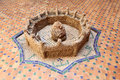 Old well in morocco spring the casbah of chefchaouen Stock Image