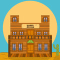 Old west building - hotel Royalty Free Stock Photo