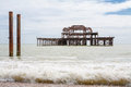Old West Pier. Brighton, UK Royalty Free Stock Photo