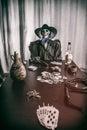 Old West Poker Skeleton Dead Mans Hand