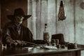 Old West Poker Skeleton Gun