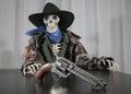 Old West Revolver Skeleton