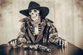 Old West Skeleton Revolver