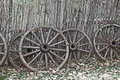 Old West Wagon Wheels Royalty Free Stock Image