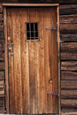 Old western jail door Royalty Free Stock Photo