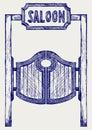 Old western swinging saloon doors Royalty Free Stock Photo