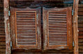 Old Western swinging saloon wooden doors Royalty Free Stock Photo