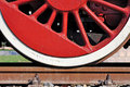 Old wheel train Royalty Free Stock Photo