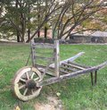 Old wheelbarrow from a farm in Connecticut Royalty Free Stock Photo