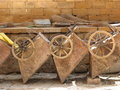 Old wheelbarrows Royalty Free Stock Photo