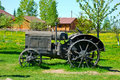 Old wheeled tractor Royalty Free Stock Photo