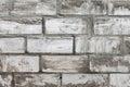 Old white brickwork Royalty Free Stock Photo