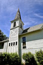 Old white country church Royalty Free Stock Photo