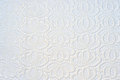 Old white lace on white backdrop Royalty Free Stock Images