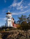 Old white lighthouse Royalty Free Stock Photo