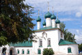 Old white orthodox church building. Royalty Free Stock Photo