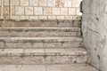 Old White Outdoor Stone Staircase Royalty Free Stock Photo