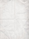Old white paper folded in four Royalty Free Stock Photo