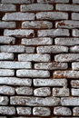 Old White Washed Bricks Royalty Free Stock Photo