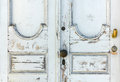 Old White Wooden Door Royalty Free Stock Photo