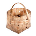 Old wicker basket. Royalty Free Stock Image
