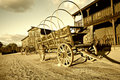 Old Wild west Cowboy Wagon cart Stock Image