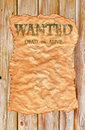 Old Wild West Wanted Poster Stock Images