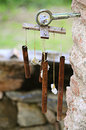 Old wind chime handmade hung on wall Royalty Free Stock Photography