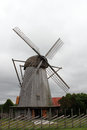 Old wind mill in saaremaa estonia Royalty Free Stock Photos