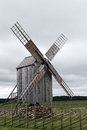 Old wind mill in saaremaa estonia Stock Photo