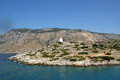 Old windmill, Aegean Sea, Greece Royalty Free Stock Photos