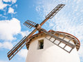 Old windmill corsica france Stock Images