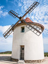 Old windmill corsica france Royalty Free Stock Photo