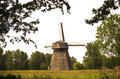 Old windmill in a farm, Lithuania