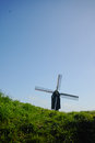 Old windmill in Netherlands, spring season Royalty Free Stock Photo