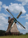 Old windmill in schleswig holstein Stock Photos