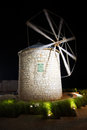 Old Windmill of Stone in the Night Royalty Free Stock Photo