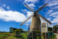 Old windmill sugar mill at morgan lewis barbados this was the last to operate in it stopped formal operations in Stock Photos