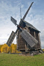 Old windmill wooden in malye karely open air museum russia arkhangelsk Stock Images