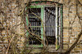 Old window in abandoned building Royalty Free Stock Photos
