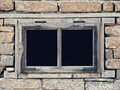 Old window an on a house Royalty Free Stock Photo
