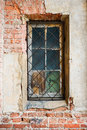 Old window with lattice Royalty Free Stock Photo