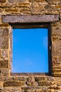 Old Window onto a Blue Sky Royalty Free Stock Photo