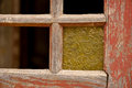 Old window with single glass Royalty Free Stock Photo