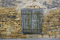 Old Window in Stone Wall Royalty Free Stock Photo