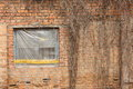 Old window tattered frame and wall Stock Photography