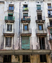Old Windows and Balconies Royalty Free Stock Photography