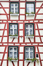 Old windows in Monschau Stock Photography